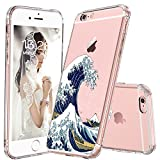 MOSNOVO iPhone 6S Case/iPhone 6 Case, Tokyo Wave Pattern Clear Design Printed Transparent Plastic Hard Back Case with TPU Bumper Protective Case Cover for iPhone 6/iPhone 6S