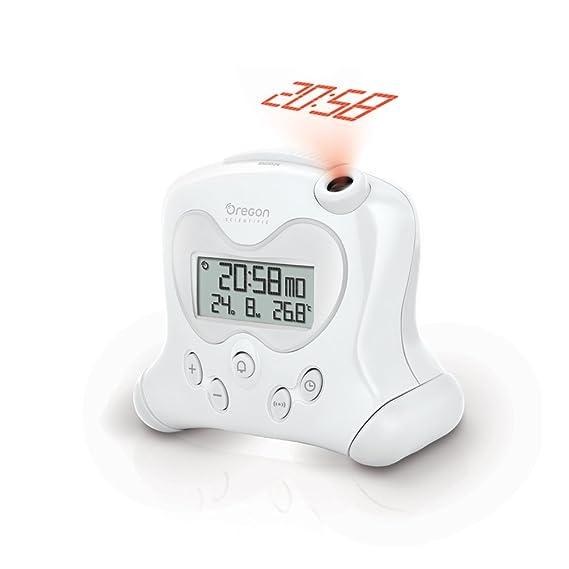 Oregon Scientific RM313PNF-W - Reloj Despertador con Proyector, Blanco