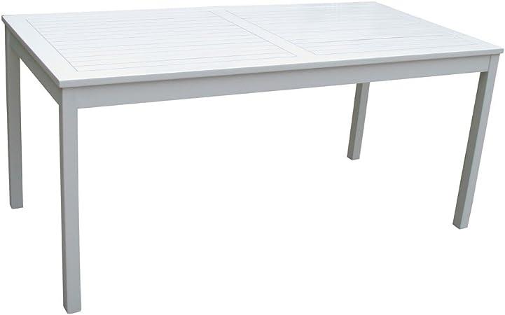 Garden Pleasure Gartentisch MALMÖ Akazie weiß lackiert Tisch 165 x 80 cm 2. Wahl