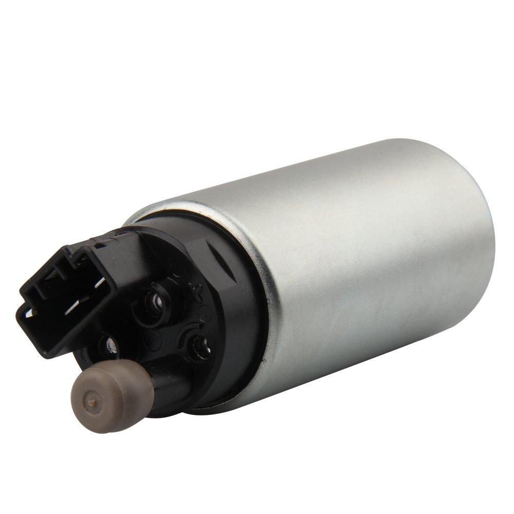 Intanque Bomba de combustible 255LPH de alta presión y flujo EFI Gasolina Universal Eléctrico Bomba de combustible con kit de instalación, ...