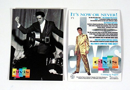 Non-Sport Trading Card Singles ELVIS THE PLATINUM COLLECTION 1999 INKWORKS PROMO CARD P1