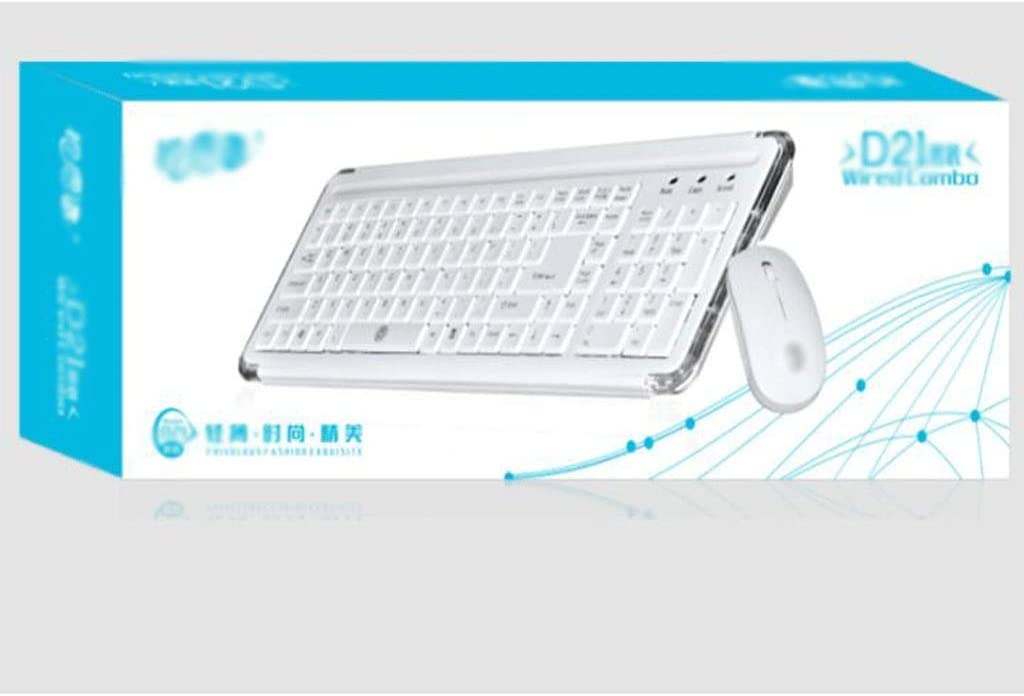 Mini Wired Keyboard and Mouse Combo Set with Ergonomic Wrist Rest,for Computer Color : Green PC Notebook Laptop Desktop