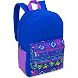 Full Size Dome Backpack With Double Zippered Pocket 17 Inch (Tribal)