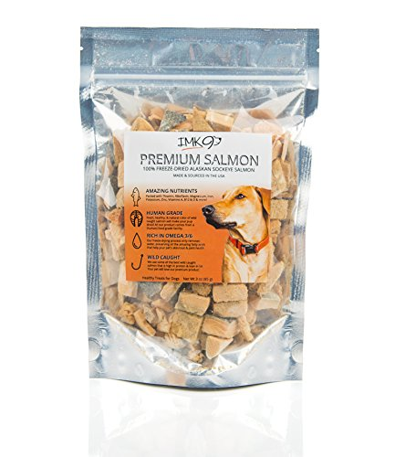 Fish Training - Freeze Dried Salmon Dog Training Treats - Natural Omega 3 and 6 Fish Oil Keep Pets Healthy - Ideal for Small or Large Dogs - 100% Pure Fish Skin Treat - Gluten Free - Made in USA Only