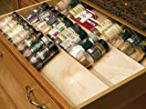 kitchen drawer spice insert - Omega National Spice Drawer Insert, 13 inch W