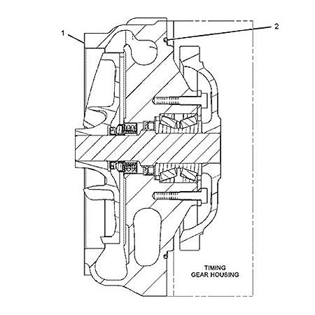Amazon Com Water Pump 336 2213 3362213 For Caterpillar Cat 365c L
