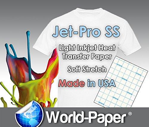 "JET-PRO®SS JETPRO SOFSTRETCH HEAT TRANSFER PAPER 11 X 17"" CUSTOM PACK 250 SHEETS"