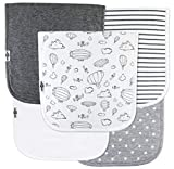 """Baby Burp Cloths for Boys and Girls 5 Pack, Large 21""""x10"""", Triple Layer, 100% Organic Cotton, Thick, Soft and Absorbent Towels, Burping Rags for Newborns, Baby Shower Gift by TheAZBaby"""