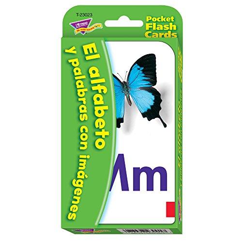 Spanish Alphabet & Picture Words Pocket Flash Cards