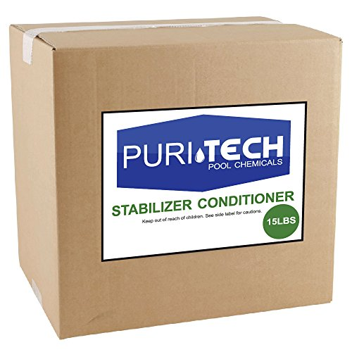 15 lbs PuriTech Stabilizer Conditioner Cyanuric Acid UV Protection for Swimming Pools and Spas