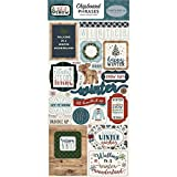 Carta Bella Paper Company Let It Snow 6x12 Phrases chipboard, red, Blue, Navy, Green, White