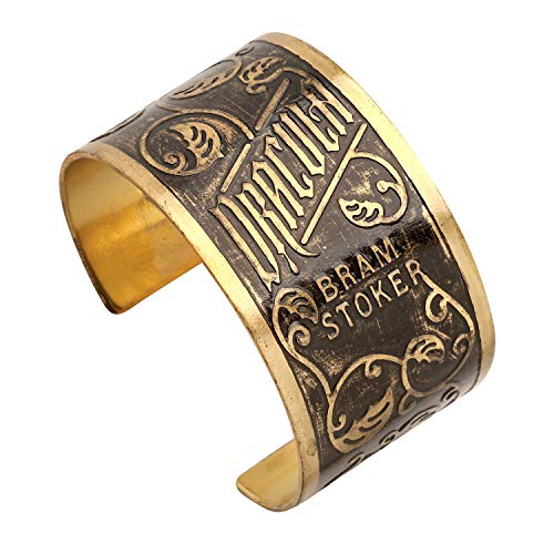 FLORIANA Women's Classic Book Covers Brass Cuff Bracelet - Jane Eyre