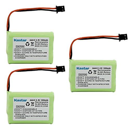Kastar 3 Pack Replacement Battery for Uniden BT-909 BT909 DCT736 TRU9280 WXI477 WXI377 DCT737 DCT750 DCT756 DCT7565 DCT758 DCT7585 TRU9260 WHAMX4 WXI377 Panasonic P-P102 KX-TC1210 KX-TC1220 KX-TC1230