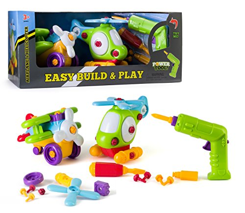 Build and Play Take-A-Part Toys Vehicle Set, Includes Power