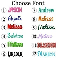 Personalized Name Decal Sticker - Gloss Vinyl for Yeti Cups, Windows, Laptops - Choose Font, Color, Size