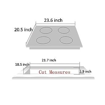 Amazon.com: Tapa de cocina de gas de 24 pulgadas con borde ...