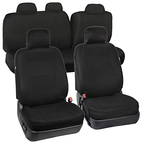 Excellent Black Seat Cover Set For Car Auto Suv Polyester Cloth 60 40 Uwap Interior Chair Design Uwaporg