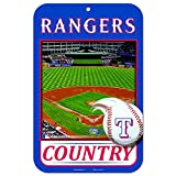 11X17 Country Plastic Street Sign MLB Texas Rangers