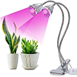 LED Plant Grow Light, 2018 Upgrade Version Grow Lamp w/ 360°Adjustable Gooseneck and Double on/Off Switch for Indoor Plants, Plant Growing, Greenhouse, Gardening, Home, Office-Dual Head 10W LED