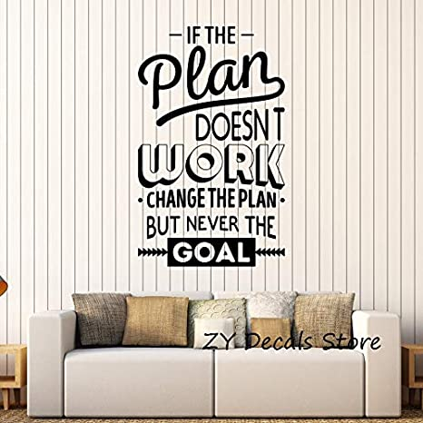 Ajcwhml Inspirar Oficina Decoración Motivación Pegatinas de Pared ...