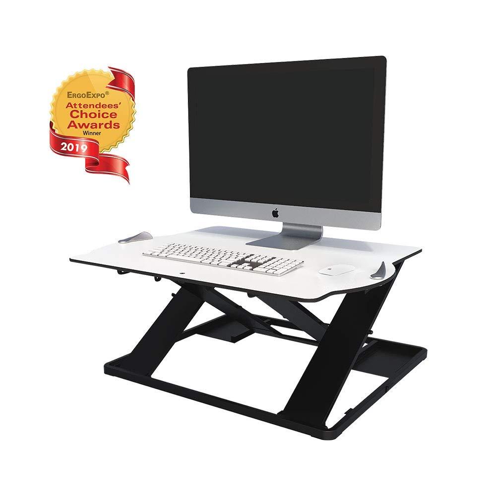Posturite Opøft Standing Desk   Lightweight Scandinavian Design, Height-Adjustable Sit to Stand Desk Converter for Computers & Laptops by Posturite