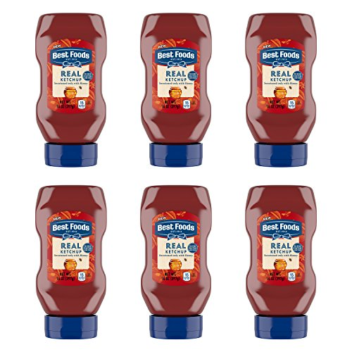 Best Foods Real Ketchup Sweetened Only with Honey 14 oz, Pack of 6