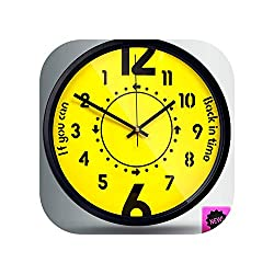 Counterclockwise Wall Clock Anti Clockwise Back Time Home Decor,Black