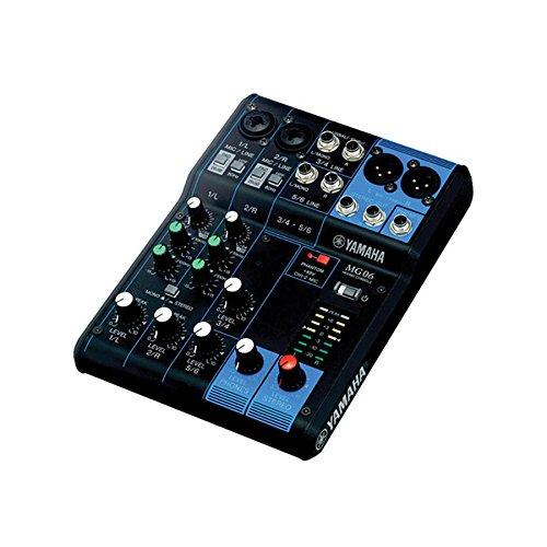 Yamaha MG06 6-Input Stereo Mixer w/ (2) 20' XLR Mic Cables by Yamaha
