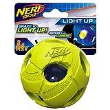 Nerf Dog Medium LED Bash Ball Light-Up Green Dog Toy
