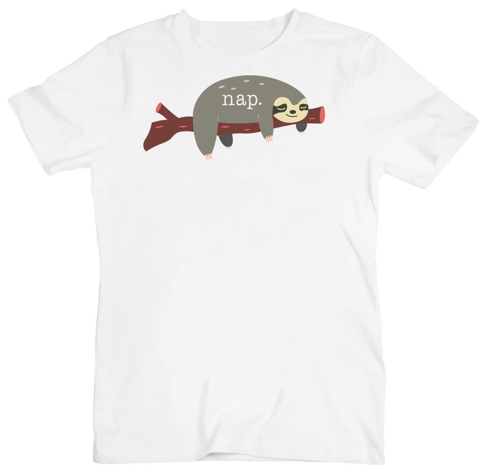 Nap Cute Sloth Sleeping On A Branch Men'S T-Shirt - Idcommerce