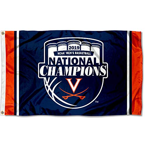 College Flags and Banners Co. Virginia Cavaliers 2019 Basketball Final Four Champions ()