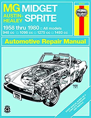 amazon com: mg midget & austin-healy sprite haynes repair manual  (1958-1980): haynes haynes: automotive