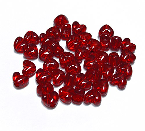 uby Red Color Heart Shaped Pony Beads Made in USA ()