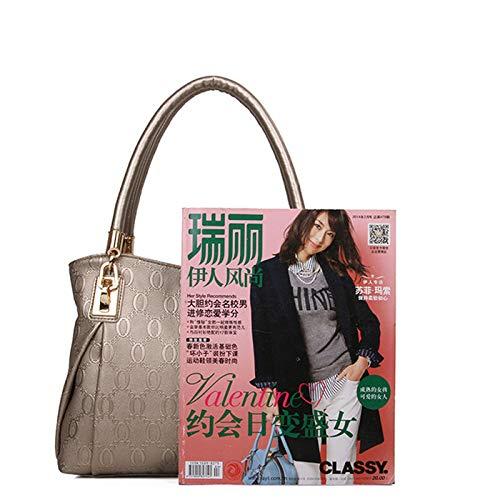cuir poches à Zhuhaimei costume doré de en avec homme sac femme et trois WPXXq40