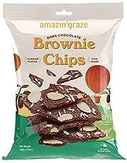Amazin' Graze Dark Chocolate Brownie Chips, 140 g