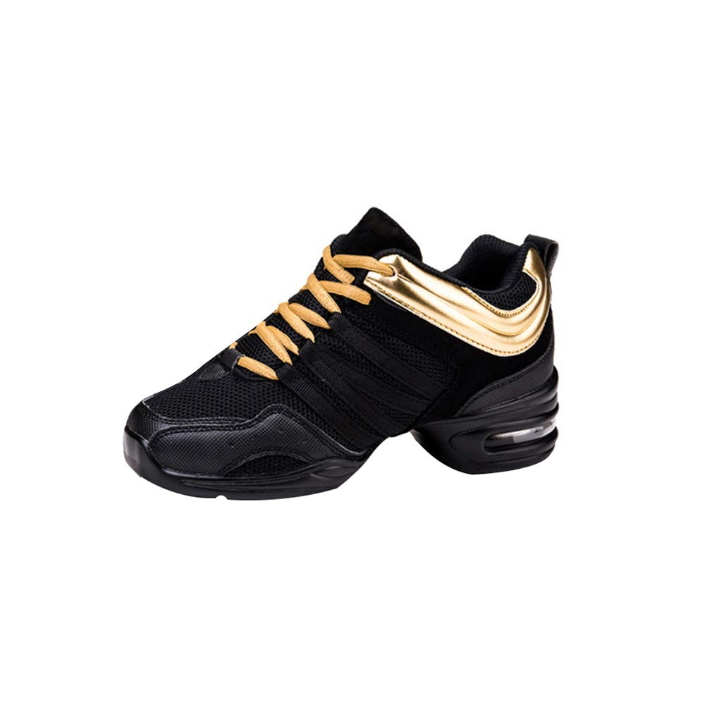 334fc84170ccc Mujer Dance Fitness Sneakers Aumento Entrenadores Transpirables Fondo  Blando Ligero Antideslizante Resistente Desgaste Zapatos Baile Moderno   Amazon.es  ...