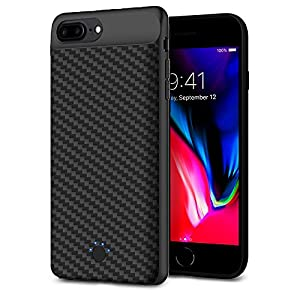 Battery Charger Case for iPhone 6 / 6s / 7 - Rechargeable External Backup Slim Portable Power Case with Soft Bendable Charging Head for 4.7 inch iPhone 2500mAh Black