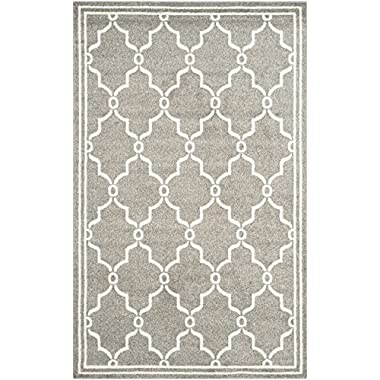 Safavieh Amherst Collection AMT414R Dark Grey and Beige Indoor/ Outdoor Area Rug, 5 feet by 8 feet (5' x 8')