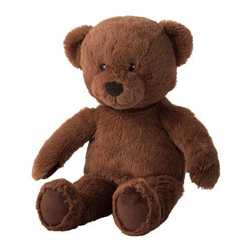 IKEA BRUNBJORN Soft Toy, Bear Brown
