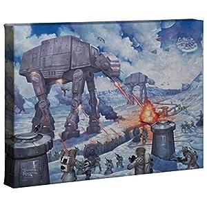 Thomas Kinkade Studios Star Wars Art Battle of Hoth 10 x 14 Gallery Wrap Canvas