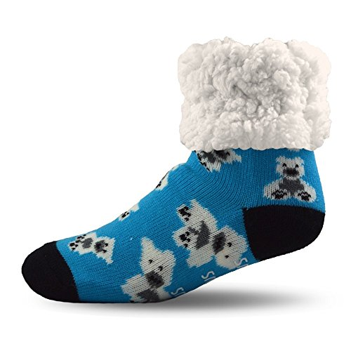 Pudus Unisex Classic Slipper Socks Toddlers One size Blue by PUDUS Brand