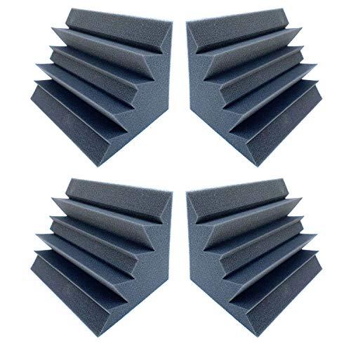4 Pack Set Acoustic Sound Foam Kit, Acoustic Speaker Absorption Foam Pas Bass Trap Studio Corner Wall 12