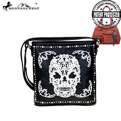 Handgun Black Sugar Montana Bag White Crossbody Skull Concealed West Collection 5X8rc8qaw