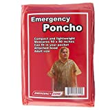 Emergency Poncho 5 Pack, Emergency Rain Gear, Weather Protection, Emergency Zone Brand
