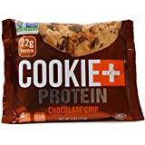 Bake City Cookie Plus Protein | Protein Cookies, 22g Protein, Non GMO, Vegan, Plant Based, Kosher, No Artificial Flavors (12 Pack, 4 Ounce Cookies)(Chocolate Chip)