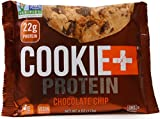 Cookie + Protein Cookies - Chocolate Chip, 22g Protein, Non GMO, Vegan, Kosher (12 Pack, 4 Ounce Cookies)