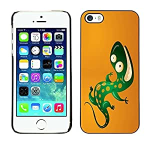 GagaDesign Phone Accessories: Hard Case Cover for Apple iPhone 5 5S - Cool Funny Lizard