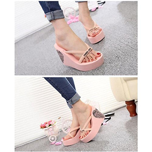 Sandales Sandals beauty antid Toe Wedge Wedge Angel Summer Beach Tongs love B51qYxwxE