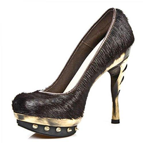 New Rock Punk Shoes Women - Gold - Euro 38 / UK 5 websites free shipping buy vtzl3AX