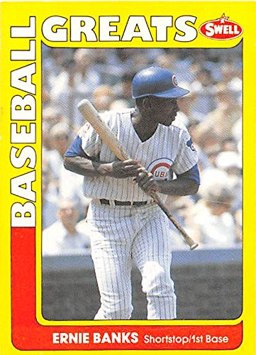 Ernie Banks baseball card (Chicago Cubs Hall of Fame) 1990 Swell #5 ()